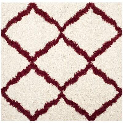 , Square 6 x 6 Charmain Ivory Area Rug
