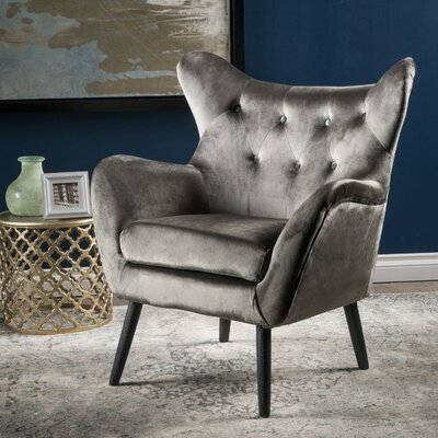 Bouck Wingback Chair Upholstery Color: Gray