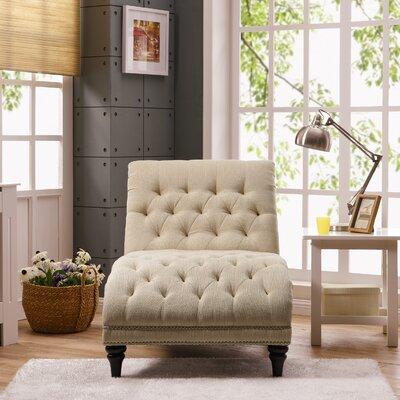 Cordella Chaise Lounge Upholstery: Linen Oatmeal