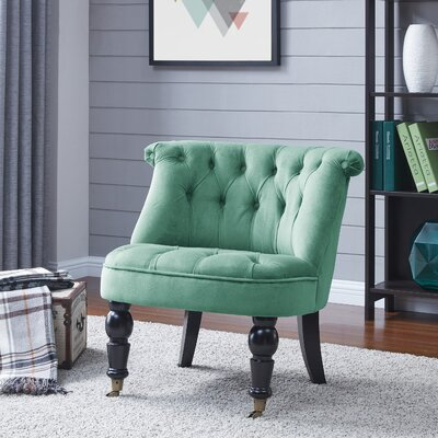 Chancery Slipper Chair Upholstery: Blue