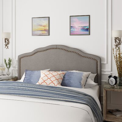 Dennis King Upholstered Panel Headboard Size: King, Color: Gray