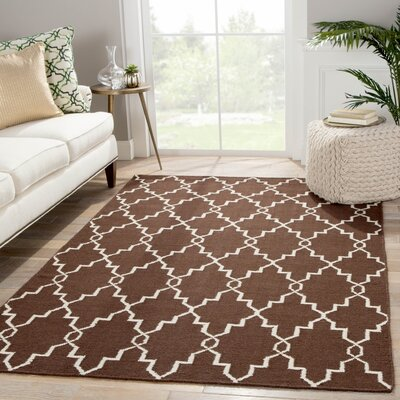 Rickman Brown Area Rug Rug Size: Rectangle 8 x 10