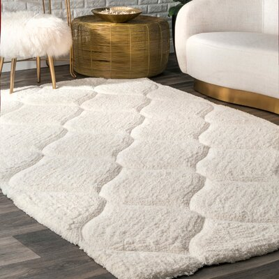 Gerold Hand-Tufted White Area Rug Rug Size: Rectangle 4 x 6
