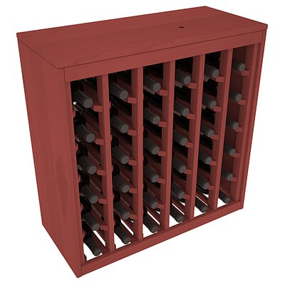 Karnes Pine Deluxe 36 Bottle Floor Wine Rack Finish: Cherry