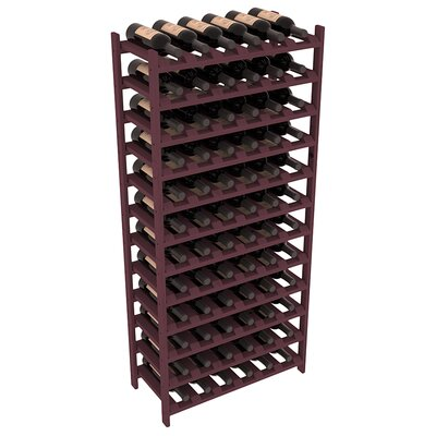 Karnes Pine Stackable 72 Bottle Floor Wine Rack Finish: Burgundy