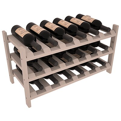 Karnes Pine Stackable 18 Bottle Tabletop Wine Rack Finish: Gray