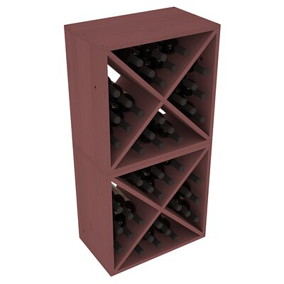 Karnes Pine X-Cube 48 Bottle Floor Wine Rack Finish: Walnut
