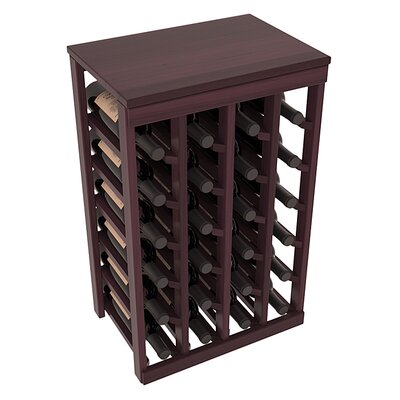 Karnes Redwood Table Top 24 Bottle Floor Wine Rack Finish: Burgundy Satin
