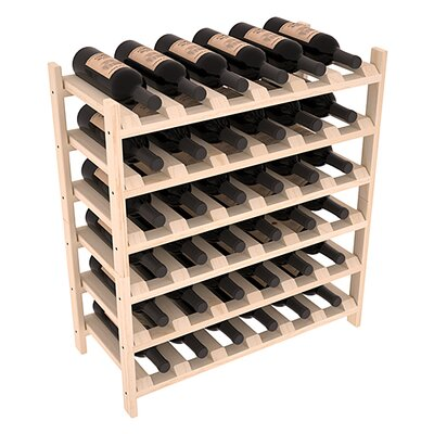 Karnes Pine Stackable 36 Bottle Floor Wine Rack Finish: Natural