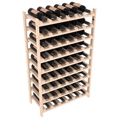 Karnes Pine Stackable 54 Bottle Floor Wine Rack Finish: Natural