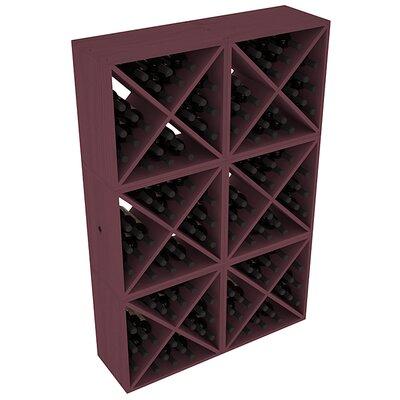 Karnes Pine X-Cube 144 Bottle Floor Wine Rack Finish: Burgundy