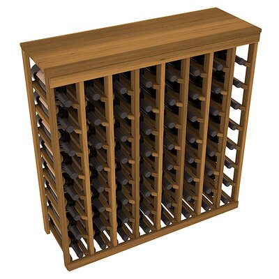 Karnes Redwood Table Top 64 Bottle Floor Wine Rack Finish: Oak