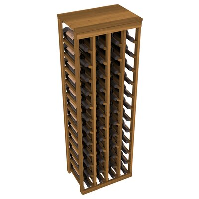 Karnes Redwood Table Top 48 Bottle Floor Wine Rack Finish: Oak
