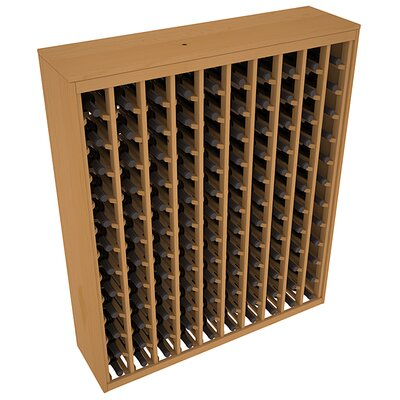 Karnes Pine Deluxe 120 Bottle Floor Wine Rack Finish: Oak