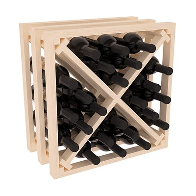 Karnes Pine Lattice X-Cube 24 Bottle Tabletop Wine Rack Finish: Natural