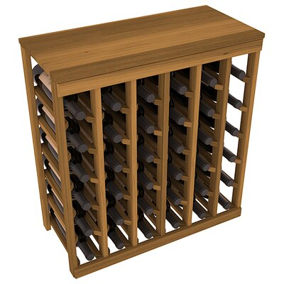 Karnes Redwood Table Top 36 Bottle Floor Wine Rack Finish: Oak