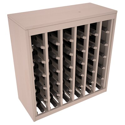 Karnes Pine Deluxe 36 Bottle Floor Wine Rack Finish: Gray Satin