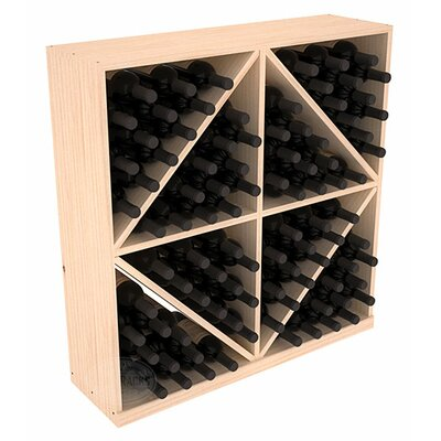 Karnes Pine Diamond Storage 96 Bottle Floor Wine Rack Finish: Natural