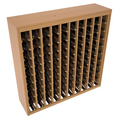 Karnes Pine Deluxe 100 Bottle Floor Wine Rack Finish: Oak Satin