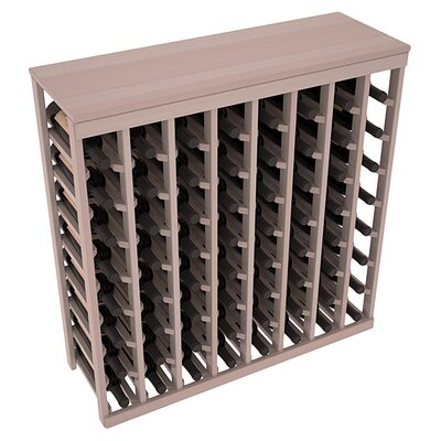 Karnes Redwood Table Top 64 Bottle Floor Wine Rack Finish: Gray Satin