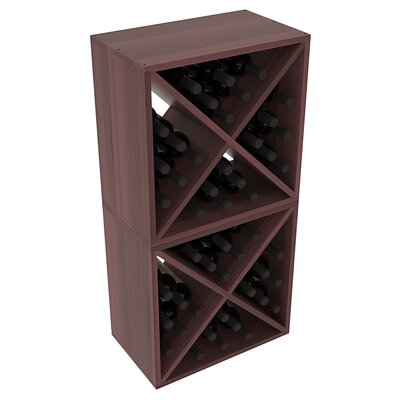 Karnes Redwood X-Cube 48 Bottle Floor Wine Rack Finish: Walnut Satin
