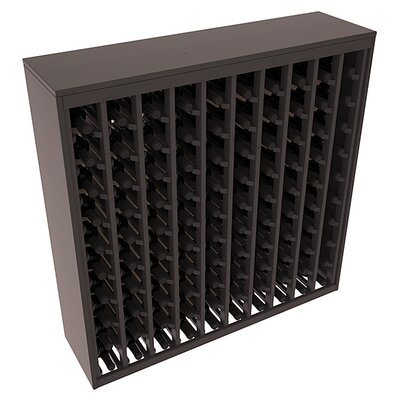Karnes Pine Deluxe 100 Bottle Floor Wine Rack Finish: Black Satin