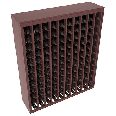 Karnes Pine Deluxe 120 Bottle Floor Wine Rack Finish: Walnut Satin