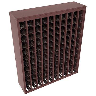Karnes Pine Deluxe 120 Bottle Floor Wine Rack Finish: Walnut Satin