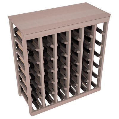 Karnes Redwood Table Top 36 Bottle Floor Wine Rack Finish: Gray
