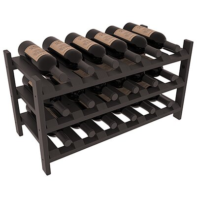 Karnes Pine Stackable 18 Bottle Tabletop Wine Rack Finish: Black Satin