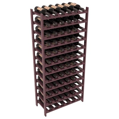 Karnes Pine Stackable 72 Bottle Floor Wine Rack Finish: Burgundy Satin
