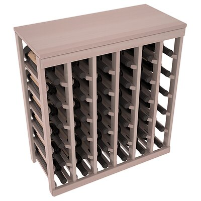 Karnes Redwood Table Top 36 Bottle Floor Wine Rack Finish: Gray Satin