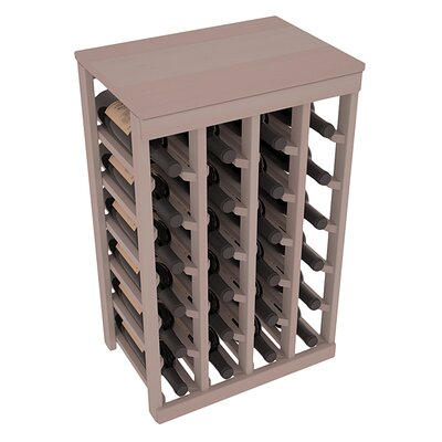 Karnes Redwood Table Top 24 Bottle Floor Wine Rack Finish: Gray