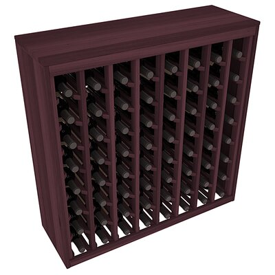 Karnes Redwood Deluxe 64 Bottle Floor Wine Rack Finish: Burgundy