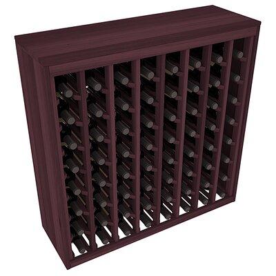 Karnes Redwood Deluxe 64 Bottle Floor Wine Rack Finish: Burgundy