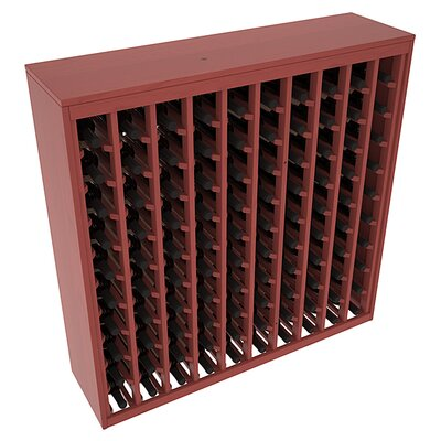 Karnes Pine Deluxe 100 Bottle Floor Wine Rack Finish: Cherry Satin