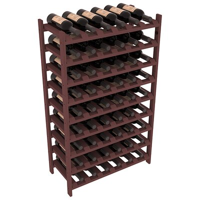 Karnes Pine Stackable 54 Bottle Floor Wine Rack Finish: Walnut