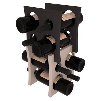 Sutton Pine Contemporary Cube 8 Bottle Tabletop Wine Rack Finish: Black / Gray