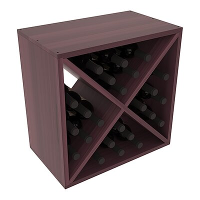Karnes Redwood X-Cube 24 Bottle Tabletop Wine Rack Finish: Burgundy Satin