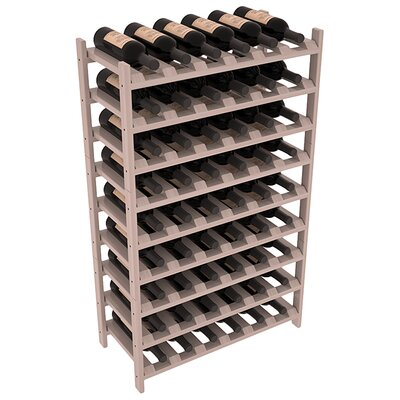 Karnes Redwood Stackable 54 Bottle Floor Wine Rack Finish: Gray Satin