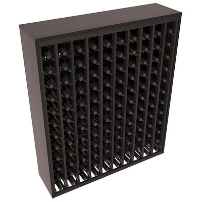 Karnes Redwood Deluxe 120 Bottle Floor Wine Rack Finish: Black Satin
