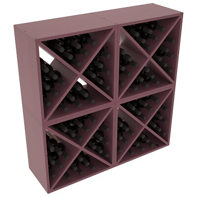 Karnes Pine X-Cube 96 Bottle Floor Wine Rack Finish: Burgundy Satin