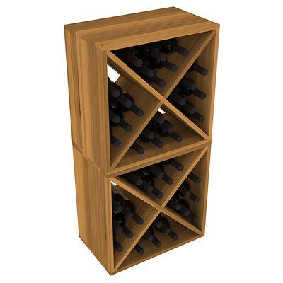 Karnes Redwood X-Cube 48 Bottle Floor Wine Rack Finish: Oak