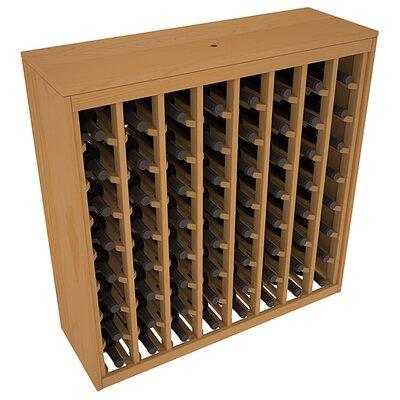 Karnes Pine Deluxe 64 Bottle Floor Wine Rack Finish: Oak