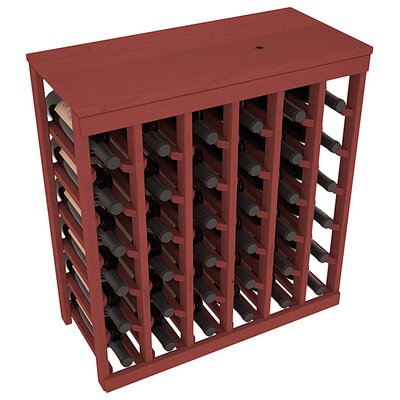 Karnes Pine 36 Bottle Floor Wine Rack Finish: Cherry