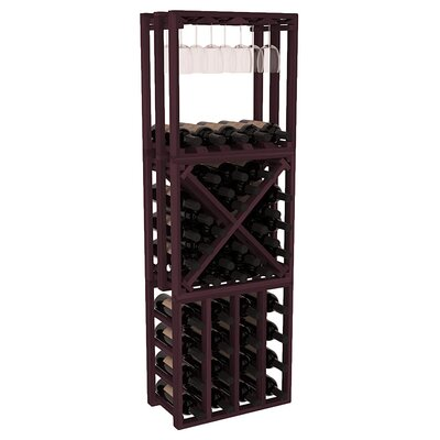 Karnes Redwood Lattice Stacking Cube 45 Bottle Floor Wine Rack Finish: Burgundy