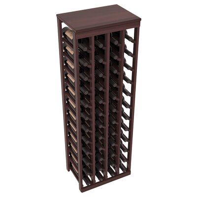 Karnes Redwood Table Top 48 Bottle Floor Wine Rack Finish: Walnut Satin