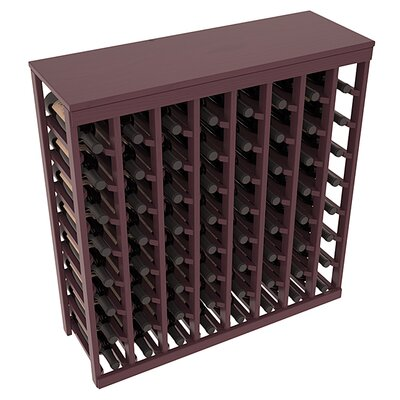 Karnes Pine 64 Bottle Floor Wine Rack Finish: Burgundy Satin