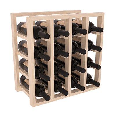 Karnes Pine Lattice 16 Bottle Tabletop Wine Rack Finish: Natural Satin