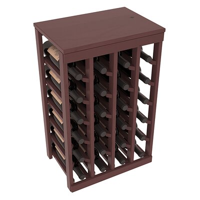 Karnes Pine 24 Bottle Floor Wine Rack Finish: Walnut Satin